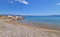 Beach at Dream`s island Eretria Euboea Greece Royalty Free Stock Photos