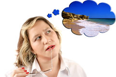 Beach dreaming Royalty Free Stock Image