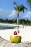 Beach drink Stock Images