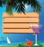 Beach and drink Royalty Free Stock Image