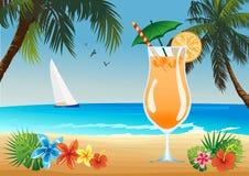 Beach drink Stock Photo
