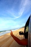 Beach drive Royalty Free Stock Images