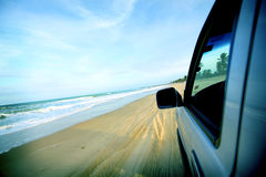Beach drive Stock Photography