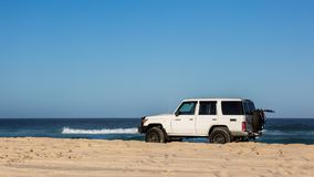 Beach Driving 4x4. 4x4 driving on the beach, Toyota Landcruiser 76 series. Day tripping to the beach Stock Photography