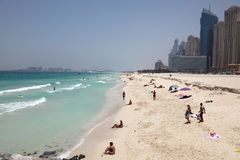 Beach at Dubai Marina Stock Image
