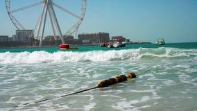 Beach Dubai Marina. Sunny day at the sea. Beach Dubai Marina. Sunny day at the sea stock footage