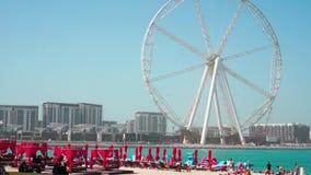Beach Dubai Marina. Sunny day at the sea. Beach Dubai Marina. Sunny day at the sea stock video footage