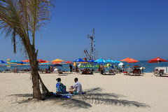 Beach at Dubai Stock Photography