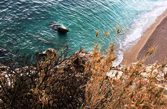 Beach in Dubrovnik, Croatia Royalty Free Stock Images