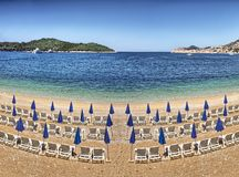 Beach at Dubrovnik - Croatia Stock Photography