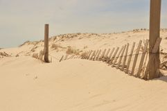 beach dune fence Royalty Free Stock Photography