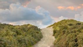 Beach dune vista stock photography