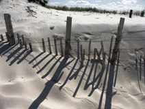 Beach dunes. With wood fencing Royalty Free Stock Photo