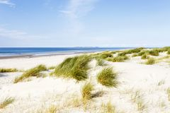 Beach with dunes on Amrum, Germany Stock Photos