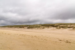 Beach and dunes in the North of the Netherlands Royalty Free Stock Photos
