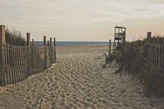 Beach at Dusk, Matte Royalty Free Stock Image
