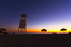 Beach at dusk Royalty Free Stock Photo