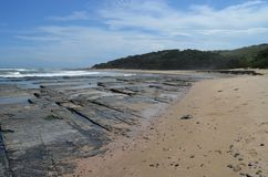 Beach at Dwesa Nature Reserve, Transkei Wild Coast Royalty Free Stock Images