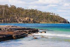 Beach, Eaglehawk Neck. The Tessellated Pavement in Eaglehawk Neck, Tasmania Royalty Free Stock Photography