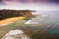 Beach at Eagles Nest, Australia. Scenic aerial view of Eagles Nest in Cape Paterson, Victoria, Australia stock images