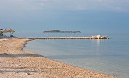 Beach in the early morning. Croatia Stock Photos