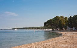 Beach in the early morning. Istria, Croatia Stock Photo