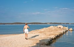 Beach in the early morning. Istria, Croatia Royalty Free Stock Images