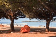Beach in the early morning. Istria, Croatia stock image