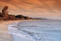 Beach in eastern coast of Corsica Stock Photo