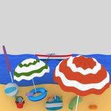 Beach.  Royalty Free Stock Image