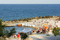 Beach in Eforie South city Stock Image