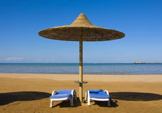 Beach in Egypt Stock Photography