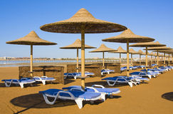 Beach in Egypt Stock Photo