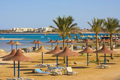 Beach in Egypt Royalty Free Stock Image