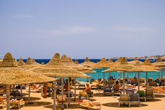 Beach in Egypt, Africa Stock Photography