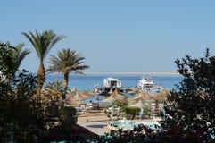 Beach, Egypt, Hurgada, May 9th, 2015 Royalty Free Stock Photos