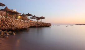 Beach in Egypt. Beach at sunset in Egypt Stock Photography