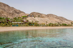 Beach of Eilat city, Red Sea, Israel Royalty Free Stock Photography