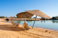 Beach at El Gouna. Egypt Stock Images