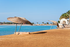 Beach at El Gouna. Egypt Stock Image