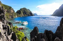 The beach of El Nido, Philippines Stock Photo