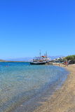 Beach in Elounda Royalty Free Stock Photo
