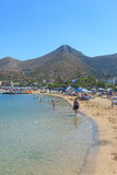 Beach in Elounda Royalty Free Stock Images