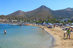 Beach in Elounda Royalty Free Stock Photography