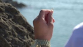 Beach Engagement Ring stock footage