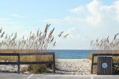 Beach Entrance. On Navarre side of Pensacola Beach Royalty Free Stock Photo