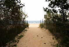 Beach entrance Royalty Free Stock Images