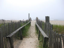 Beach entrance Stock Images