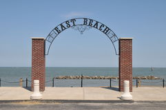 Beach entrance gate. Image of a beach entrance gate Royalty Free Stock Image