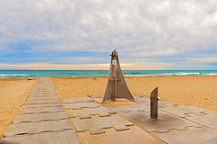 Beach entrance near Barcelona, Spain. Royalty Free Stock Photography